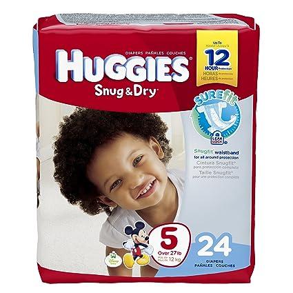 Huggies Ajustada & Seco Disney bebé Etapa 5 Pañales (más de 27 kg) –