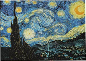 Moruska Starry Night by Vincent Van Gogh Jigsaw Puzzle 1000 Piece Puzzles for Adults