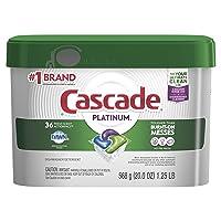 Deals on 36 Count Cascade Platinum ActionPacs, Dishwasher Detergent Pods