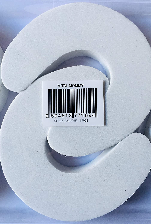 Tope de puerta de Seguridad para Ni/ño Beb/é dedos Goma Eva 6 Unidades