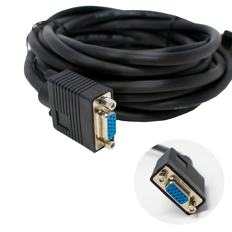 I-CHOOSE LIMITED SVGA Monitor Extension Cable Super VGA Triple shielded//Male to Female Black 1m