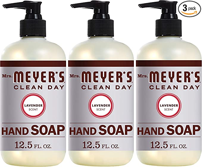Mrs. Meyer's Clean Day Liquid Hand Soap, Cruelty Free and Biodegradable Hand Wash Made with Essential Oils, Lavender Scent, 12.5 oz - Pack of 3   Amazon