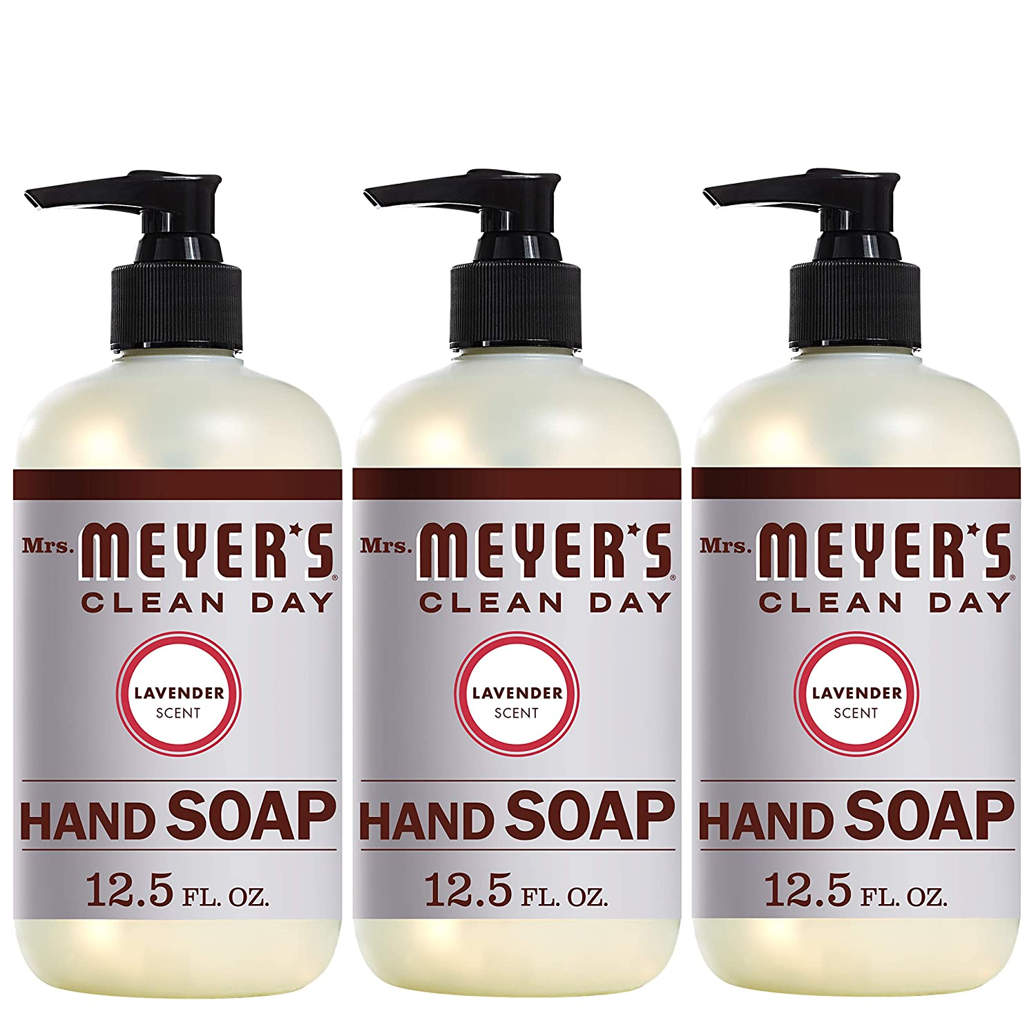 Mrs. Meyer's Clean Day Liquid Hand Soap, Lavender Scent, 12.5 ounce bottle (Pack of 3)