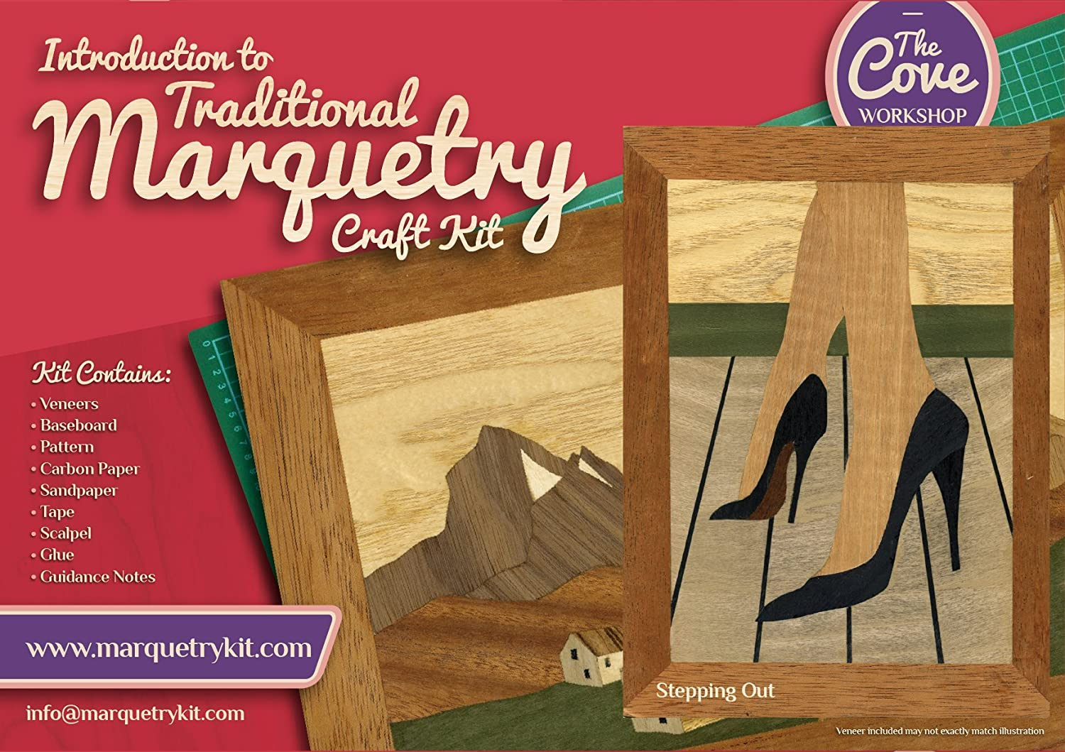 Traditional beginner Marquetry Craft Kit by Cove Workshop Clyde Puffer
