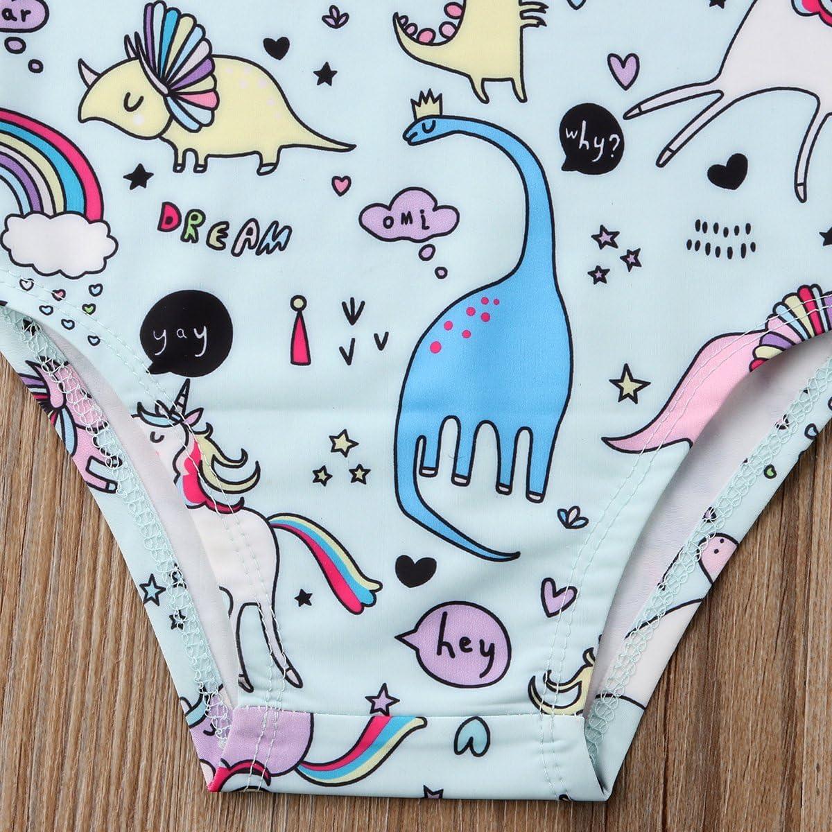 Baby and Toddler Girl Dinosaurs /& Unicorns Swimsuit