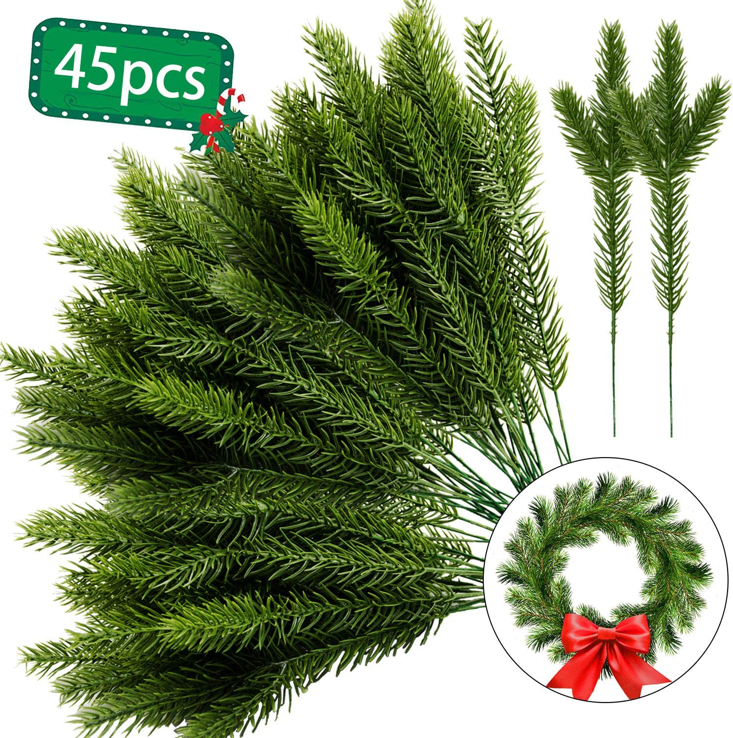 PACK 5 DARK GREEN CHRISTMAS TREE  EMBELLISHMENTS FOR CARDS /& CRAFTS