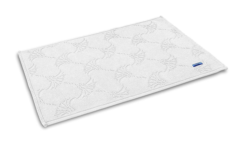 JOOP! NEW CORNFLOWER Designer Badteppich | Badematte weiß - 60 x 90 cm