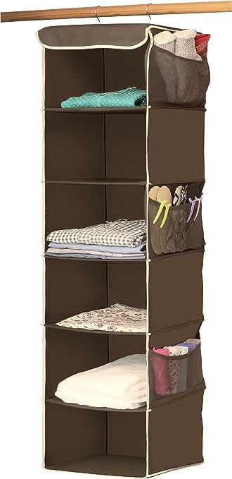 Amazon.com: SimpleHouseware 6 Shelves Hanging Closet Organizer, Bronze:  Home U0026 Kitchen