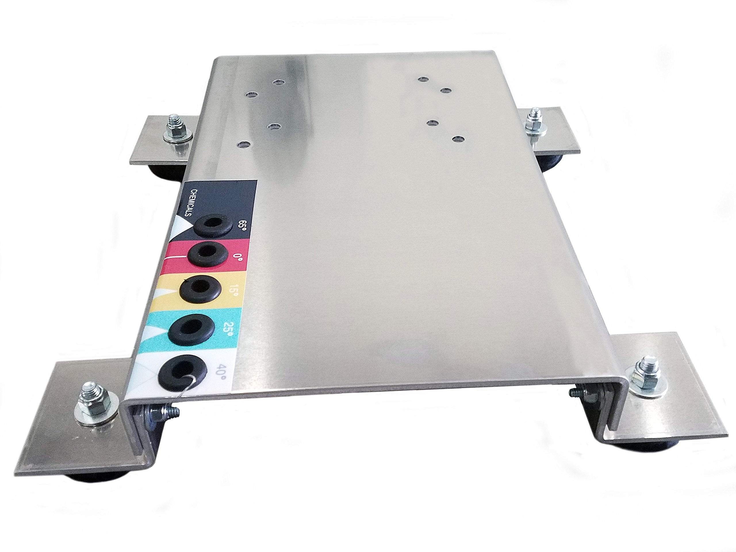 Pressure Washer Skid Plate Frame, Aluminum with Rubber Feet