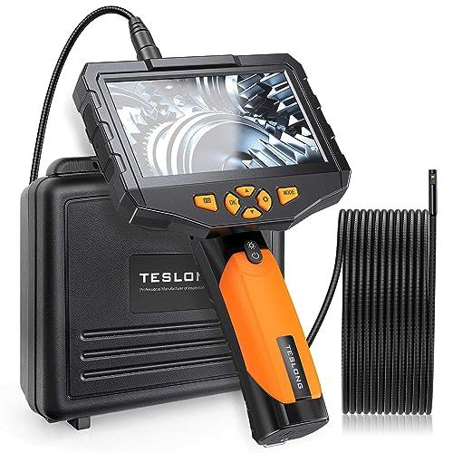 Teslong NTS300 Dual Lens Endoscopic Borescope Inspection Camera w/4.5-inch IPS LCD Screen