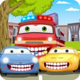 Car Wash & Dentist Games: fire truck, police car, dump truck - dental care mechanic doctor clinic for kids to repair teeth