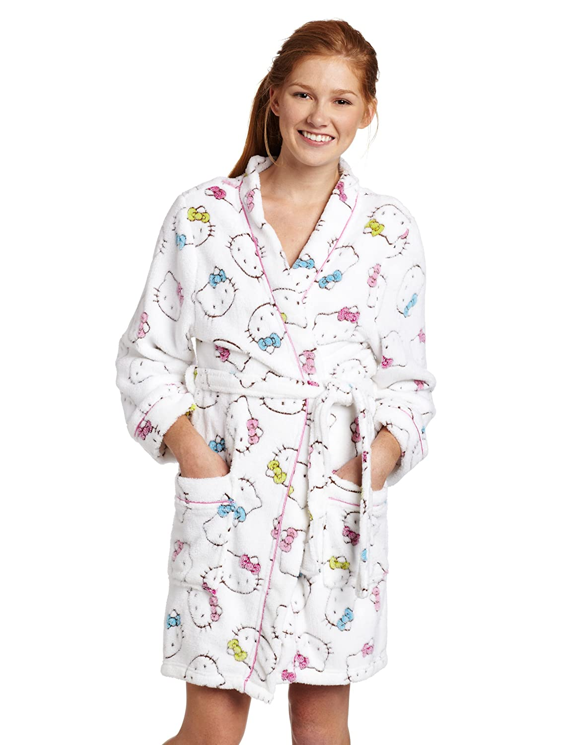 0b3bdb018 Hello Kitty Women's Burn Out Robe at Amazon Women's Clothing store:  Bathrobes