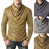 Simayixx Shirts for Men, Slim Sweaters Turtleneck