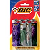 BIC Special Edition Fashion Series Lighter, Assorted Designs, 4-Pack