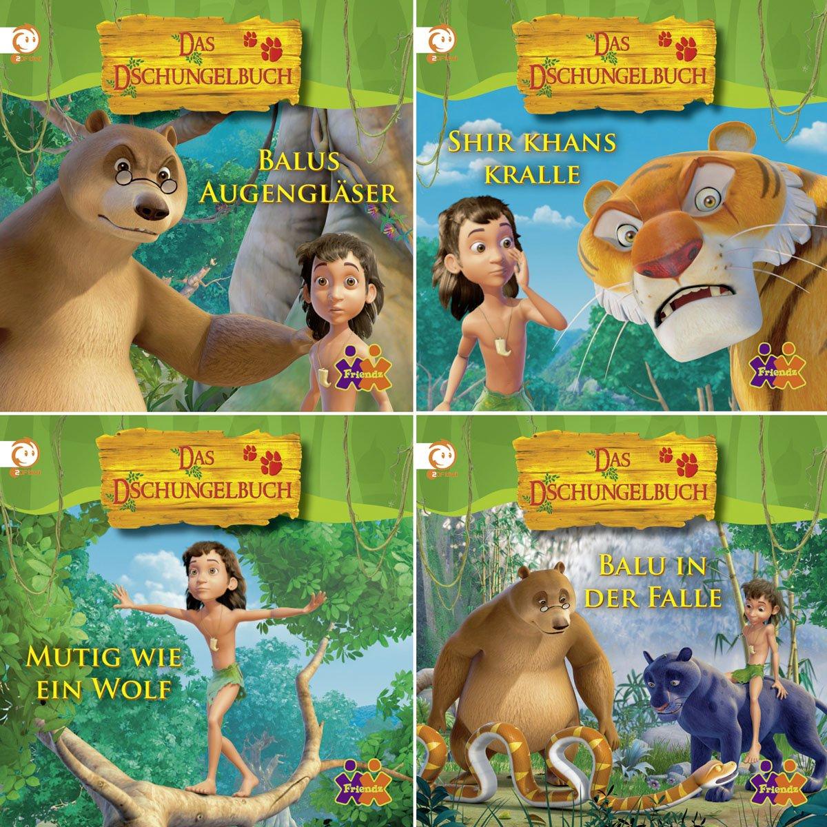 Mini-Bücher Das Dschungelbuch 1-4 (4er-Set)