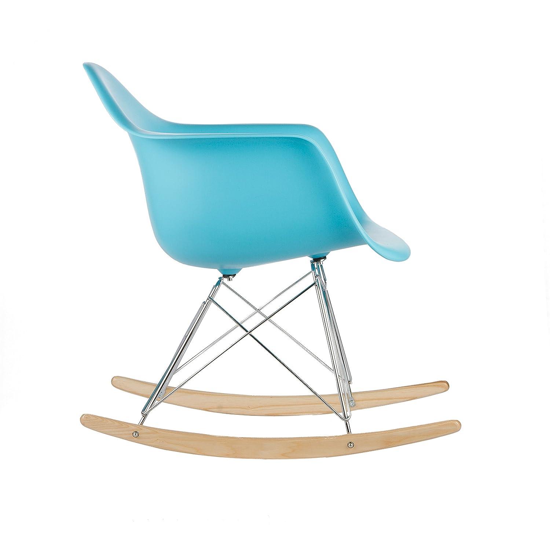Amazon.com: Poly and Bark Rocker Lounge Chair, Aqua: Kitchen & Dining