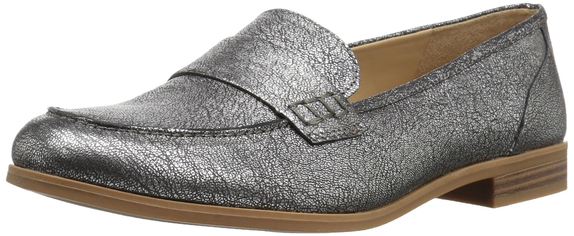 Naturalizer Women's Veronica Slip-on Loafer, Silver, 4 M US