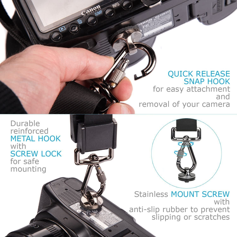 iHaospace Camera Shoulder Strap Quick Release Neck Strap for Canon Nikon Sony Fujifilm Olympus DSLR SLR Professional Photography Set