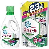 【まとめ買い】 アリエール 洗濯洗剤 液体 リビングドライイオンパワージェル 本体 910g + 詰め替え 超ジャンボ1.62kg