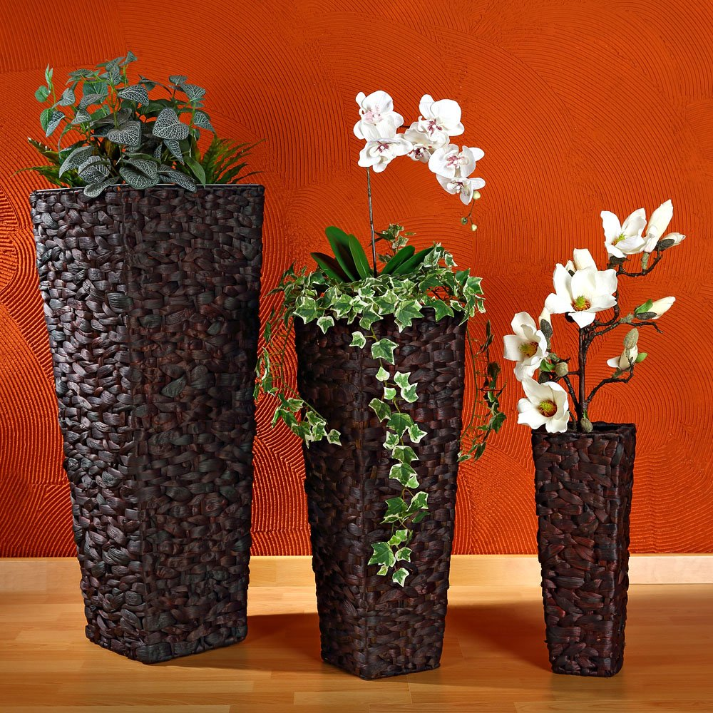3x XXL Blumentopf Set Blumenkübel Pflanztopf Blumentopf Vase Hand ...