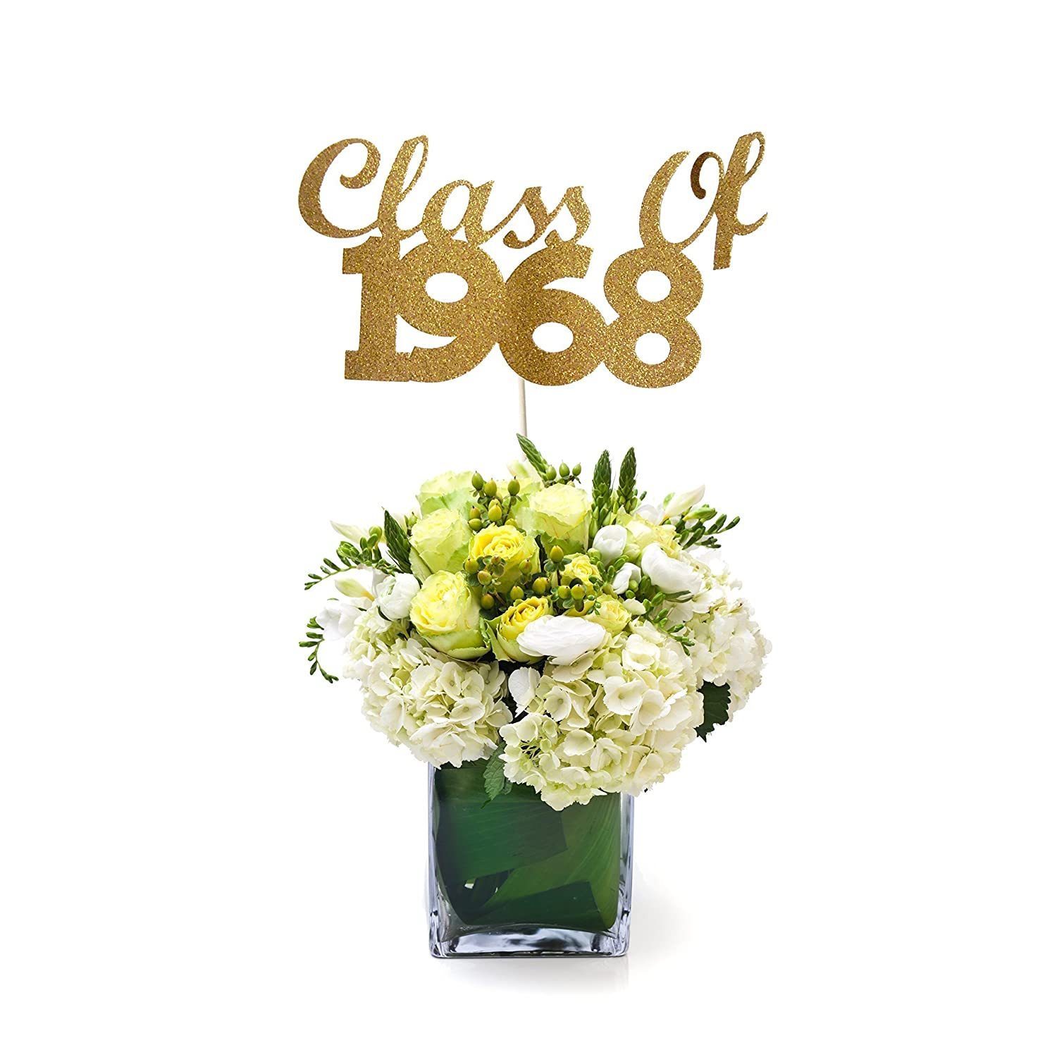Class of 1968 Graduation Centerpiece Stick, 50th Class Reunion Centerpiece Stick