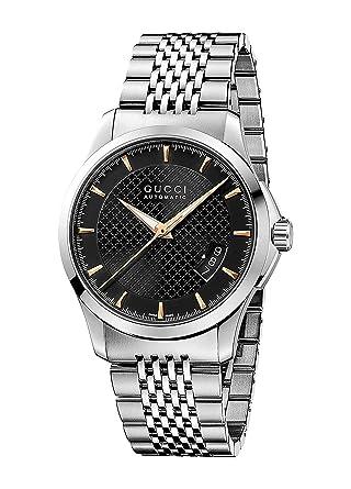 Gucci G TIMELESS - Reloj automático para hombre, correa de acero inoxidable color plateado: Amazon.es: Relojes