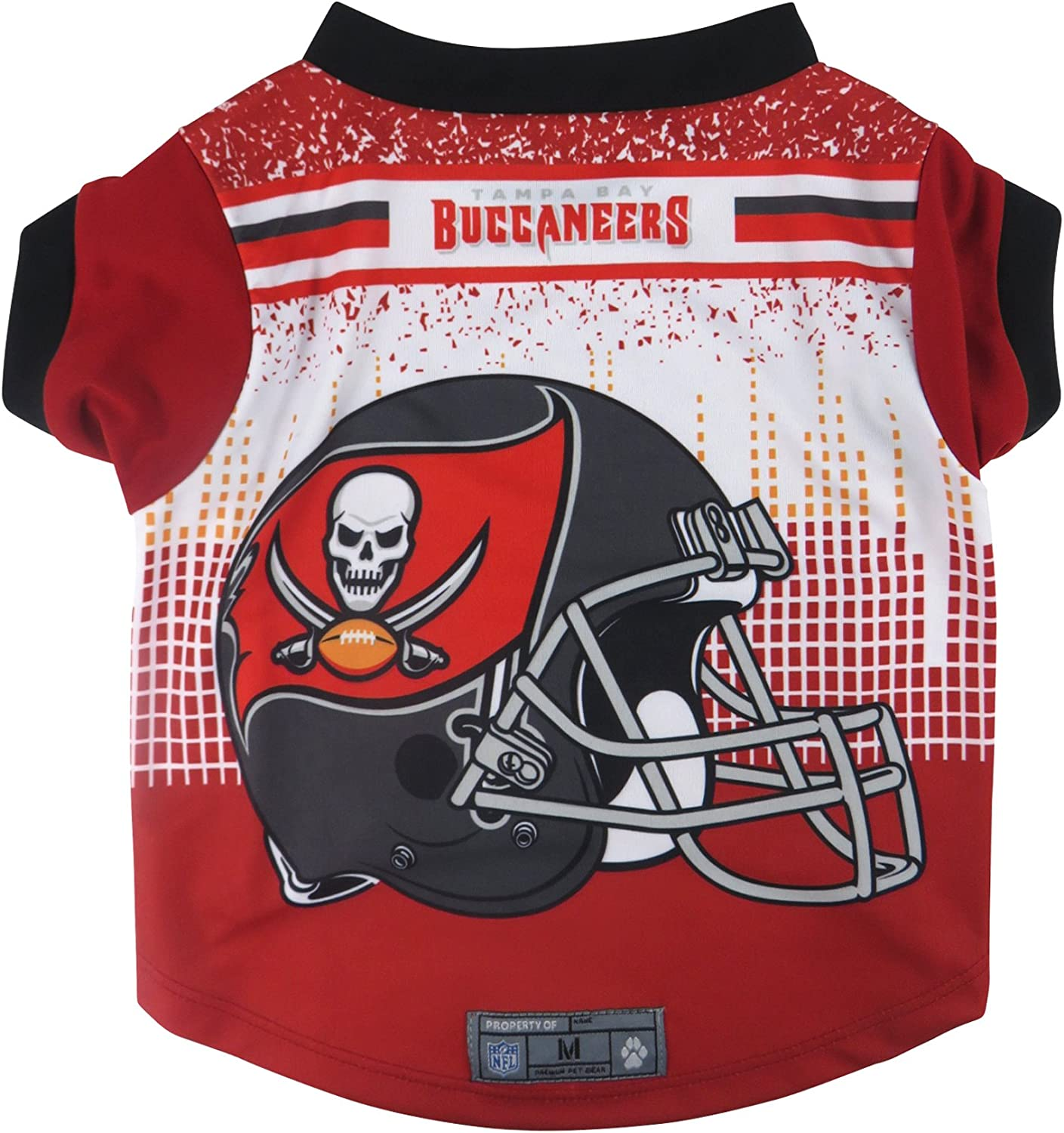 Large Littlearth NFL Tampa Bay Buccaneers Pet Performance T-shirt