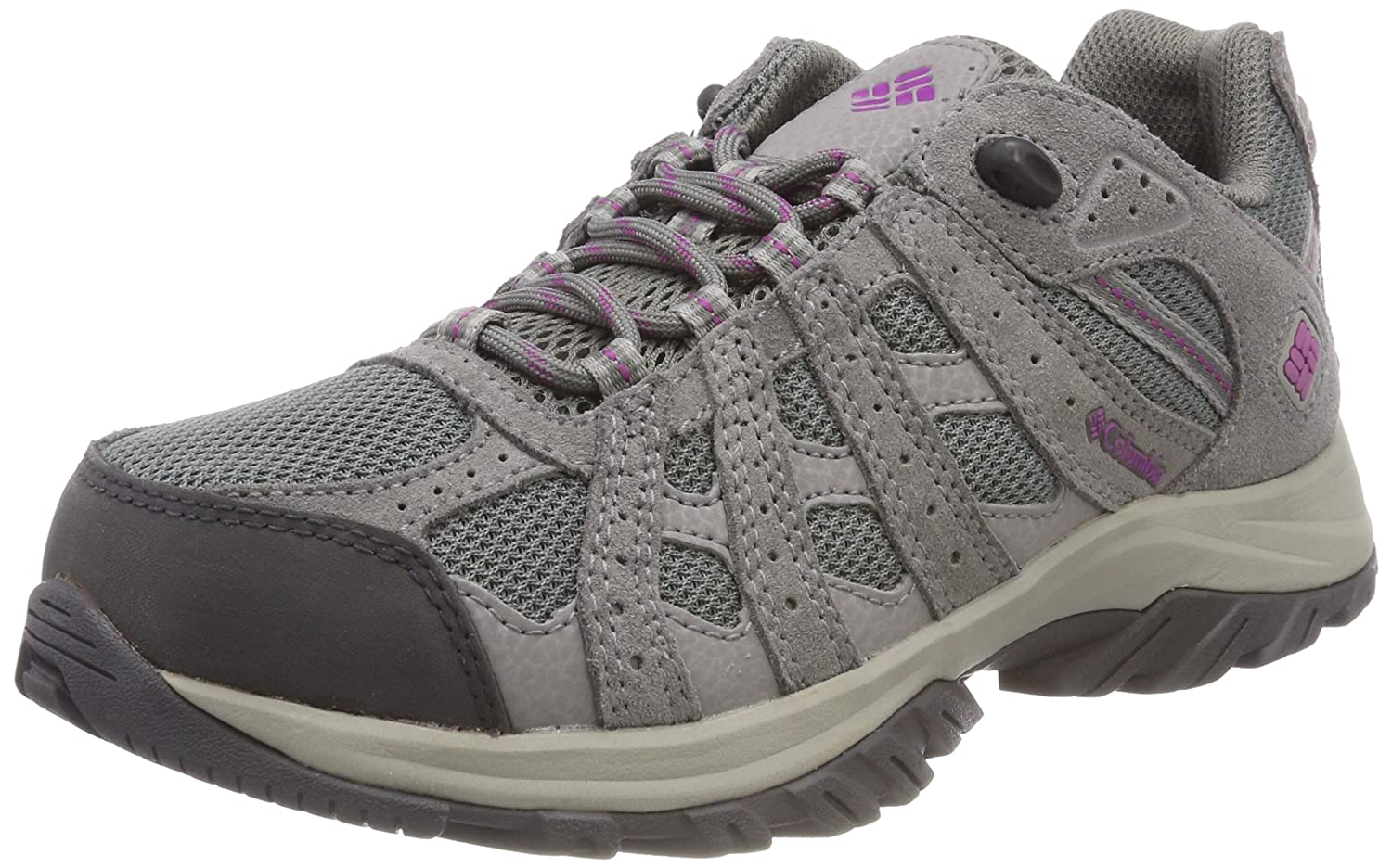 gris (Charcoal, Razzle) Columbia Femme Chaussures Multisport, Imperméable, CANYON POINT 43 EU