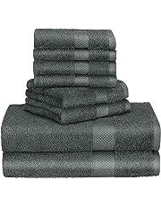 Homitt Juego de toallas de lujo, 100% Algodón Premium Juego de toallas 8 PCS