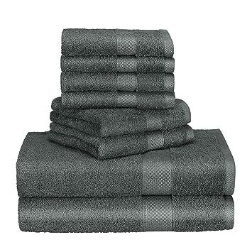 Exceptionnel Homitt 100% Coton Premium Lot Serviette Luxe, 8 Pièces (4 Serviettes De  Toilette