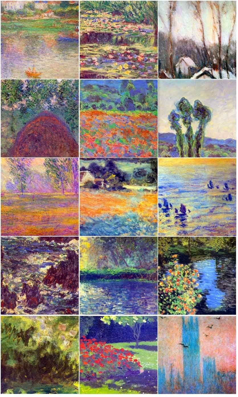 15 6 x 6 Tiles Art Monet Mosaic Ceramic Mural Backsplash Bath Decor Tile Behind Stove Range Sink Splashback, Glossy