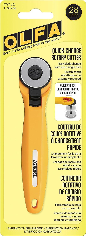 OLFA 1131976 RTY-1/C Rotary Cutter, Yellow