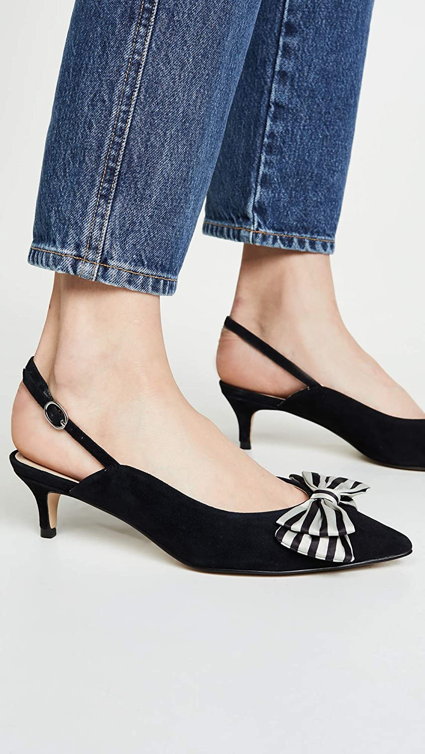 Black cupcakes and cashmere Womens Jevlyn Bow Slingbacks 9.5 Medium US