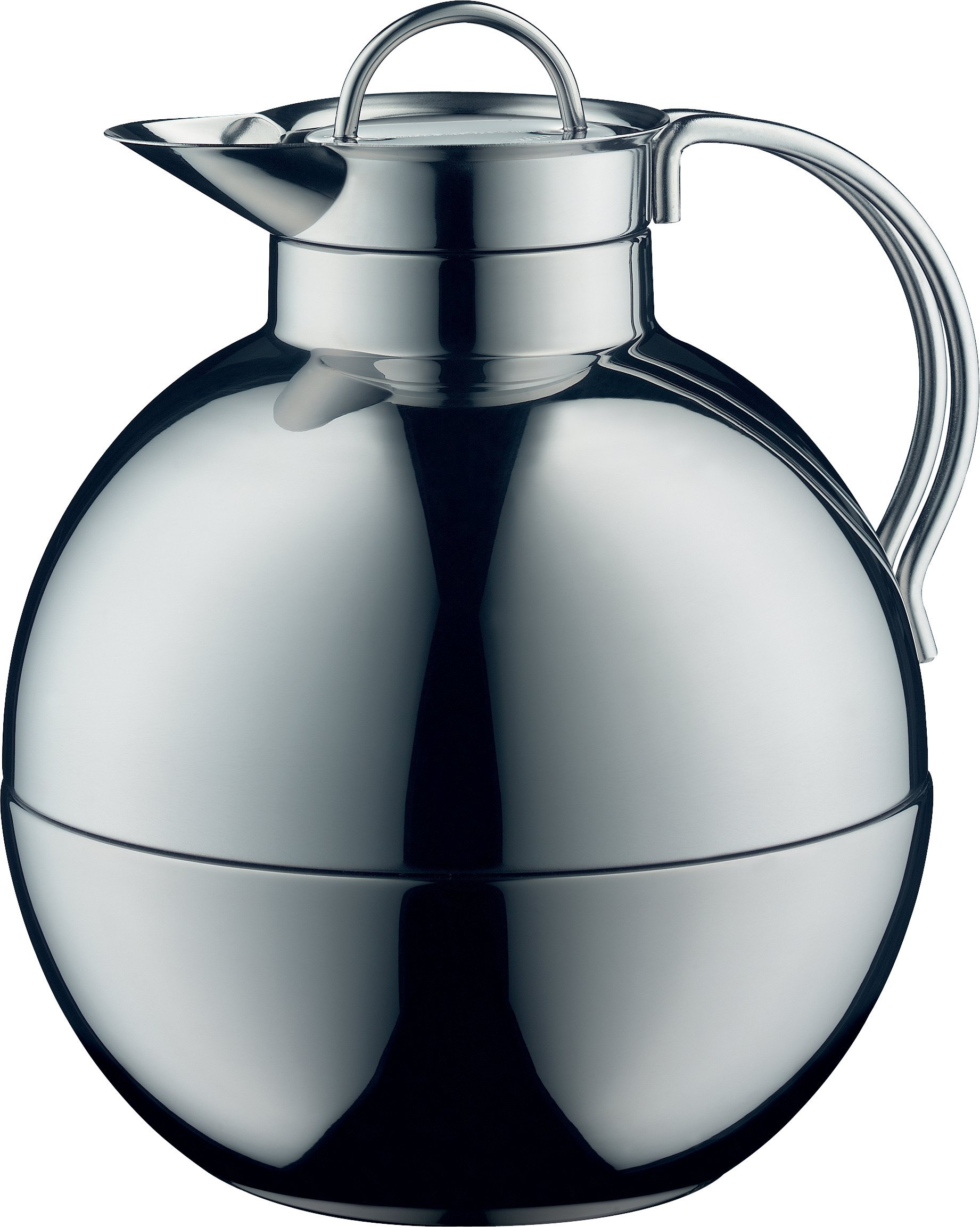 alfi Kugel Glass Vacuum Polished Thermal Carafe for Hot and Cold Beverages, 0.94 L, Stainless Steel