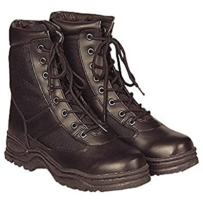 McAllister Army Outdoor Boots Stiefel Arbeitsschuhe Kampfstiefel  Securitystiefel (Schwarz 37) f036bf0afc