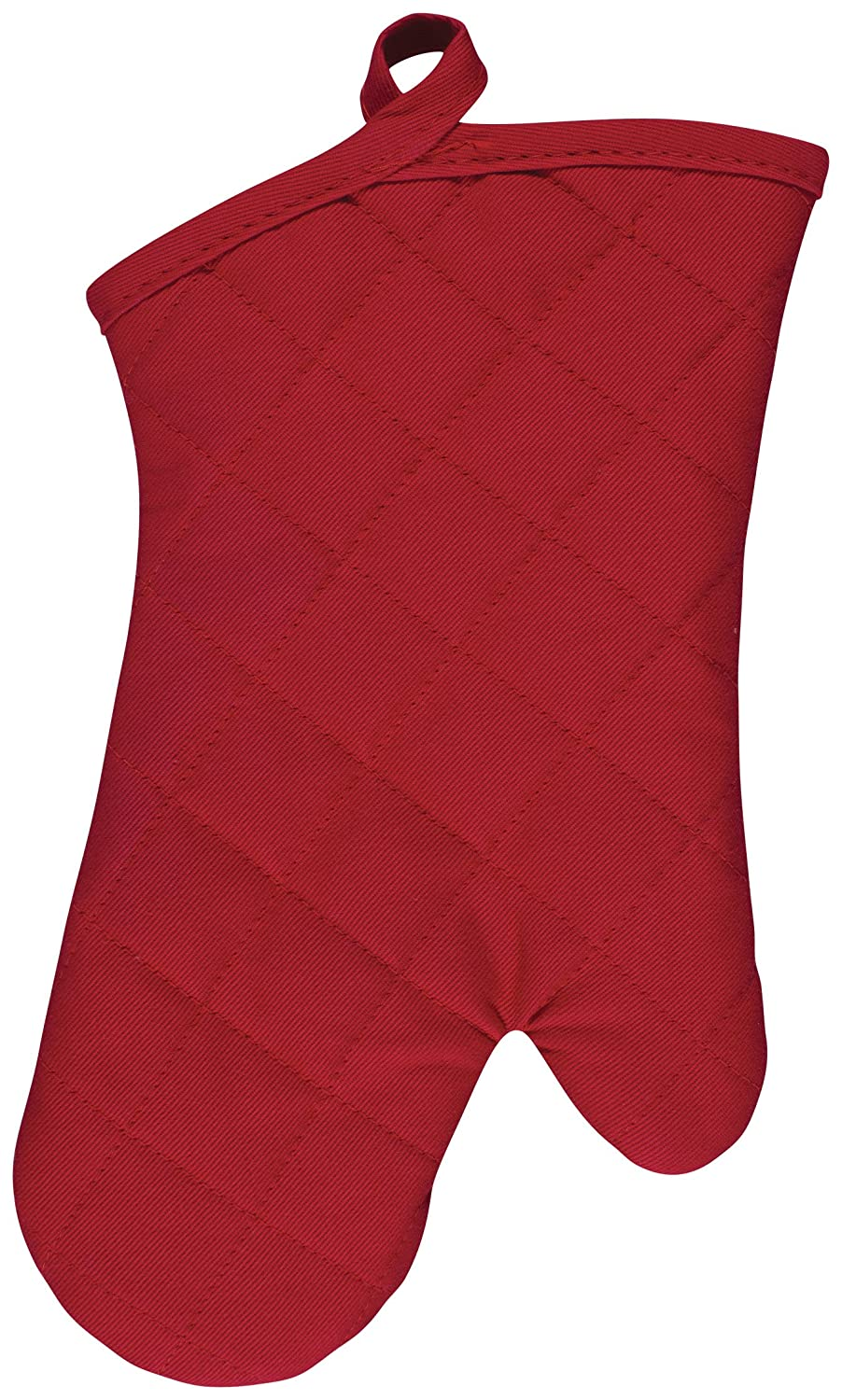 KAF Home Chefs Solid Oven Mitt, Cherry, 100% Cotton, Machine Washable, Made in USA