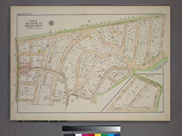 Amazon.com: Map Poster - Plate 74, Part of Section 12, Borough of ...