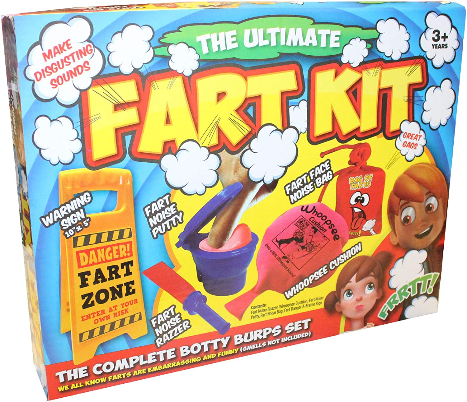 Christmas Stocking Filler The Ultimate Fart Kit Childrens Prank Set Age 3 Years