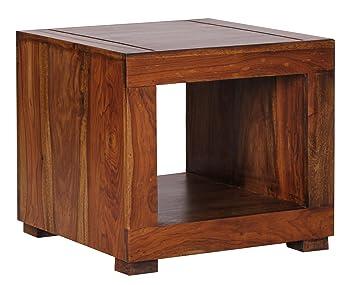 WOHNLING Sheesham Massiv Holz Couchtisch 50 X Cm Wohnzimmer Tisch Design Dunkel