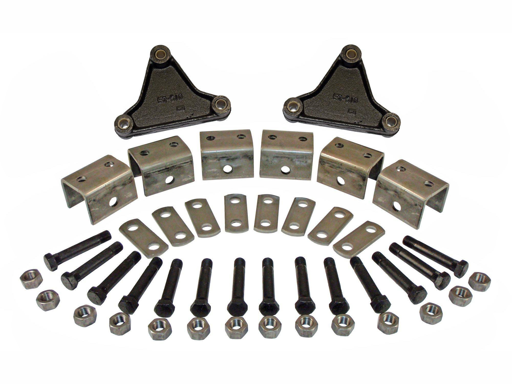 Tandem Axle Hanger Kit (EK2-D102) For Double Eye Springs by Rigid Hitch