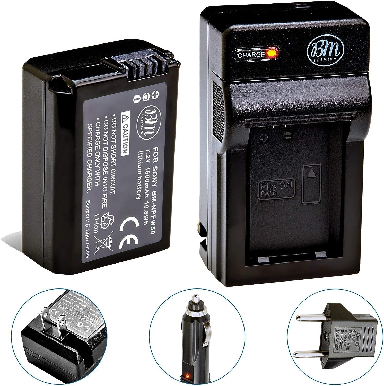 6100 2 X Premium 1050mah batería CARGADOR PARA SONY ALPHA 5100 6400-np-fw50