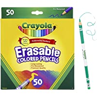 Crayola Erasable Colored Pencils, Coloring Book Essentials, 50 Count