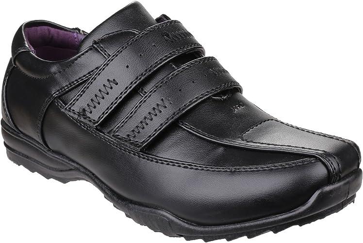 Boys Touch Fasten School Shoes