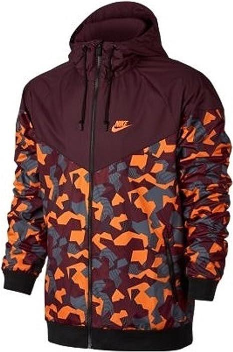 b84d7488b Amazon.com: NIKE Men's Sportswear Windrunner Jacket Camo Orange (XL):  Sports & Outdoors
