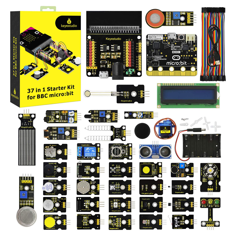 keyestudio 37 in 1 Starter Kit with BBC Micro bit Controller Board by KEYESTUDIO