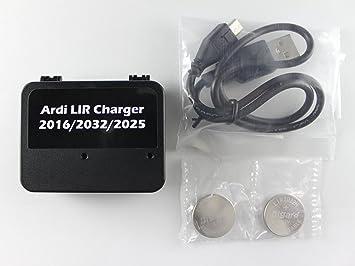 Cargador de batería de Moneda USB para LIR 2032/2016/2025 con 2 ...