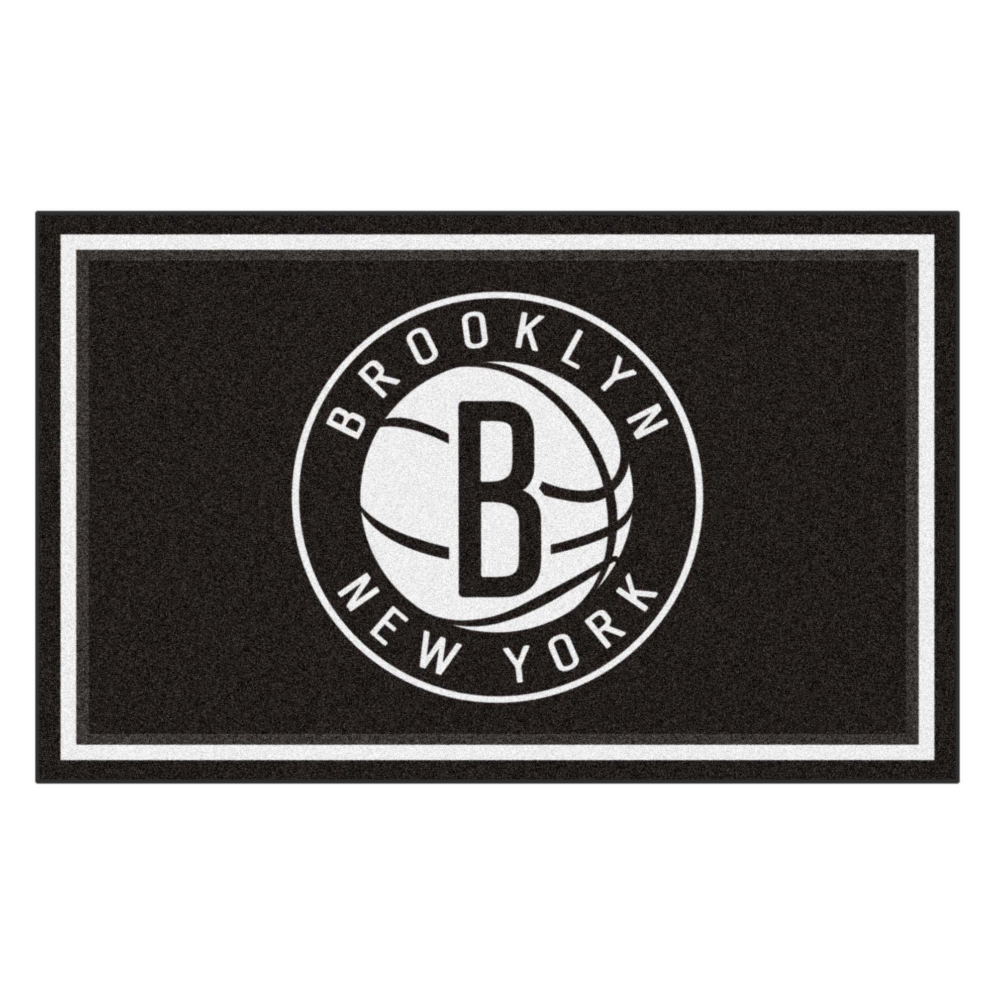 FANMATS 20420 44''x71'' Team Color NBA - Brooklyn Nets Rug by Fanmats