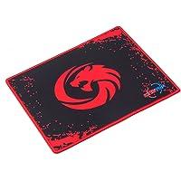 KINGTOP Tapis de Souris Gmaing Base en Caoutchouc Antidérapant Surface Spéciale Texturée 300x250x2mm, Noir et Rouge