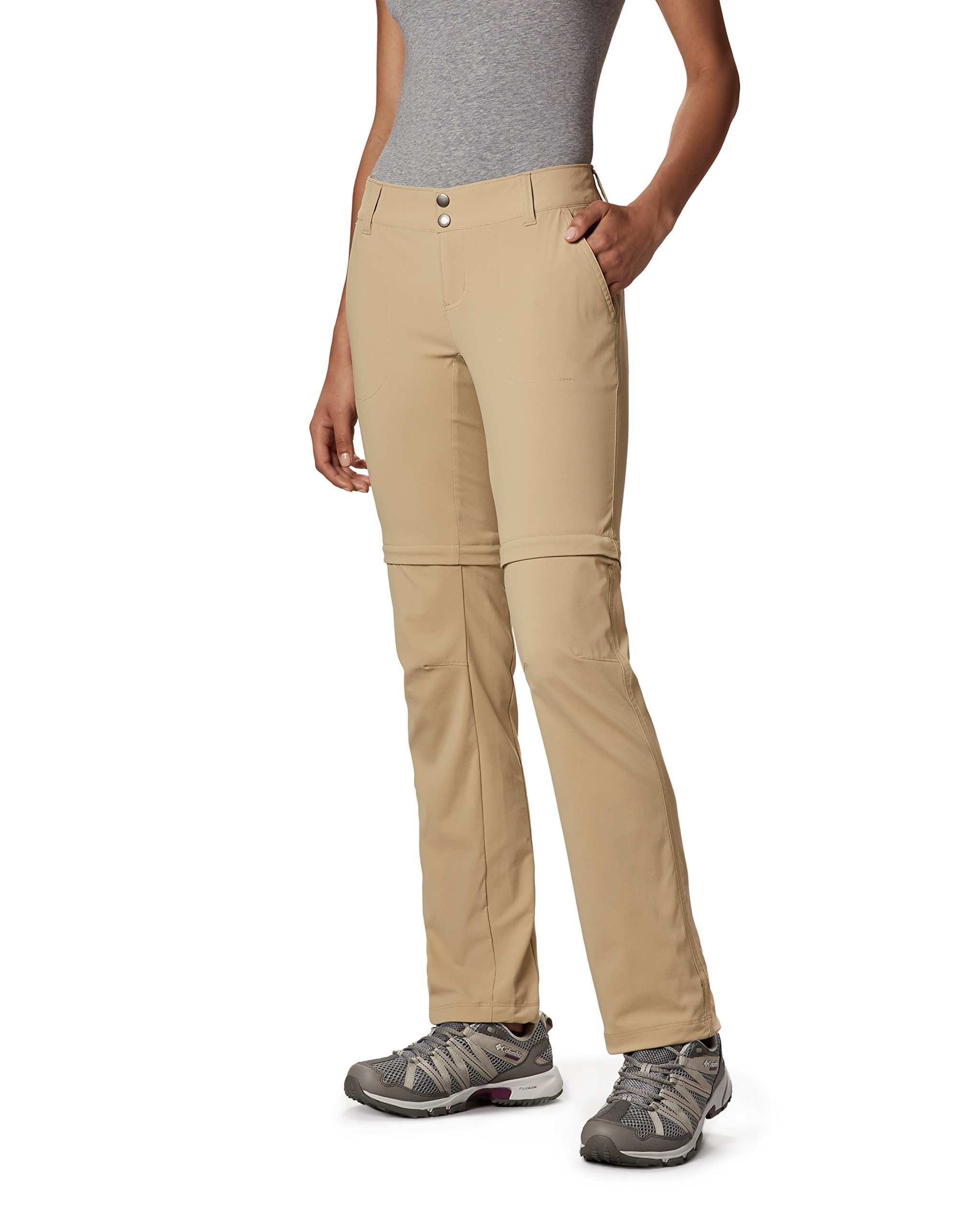 Columbia Women's Saturday Trail II Convertible Pants, 14 Shorts, British Tan