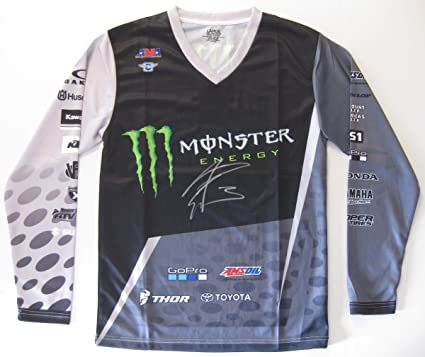 Image Unavailable. Image not available for. Color  Eli Tomac Supercross  Motocross signed autographed Monster Energy Jersey ... b848fd6f3